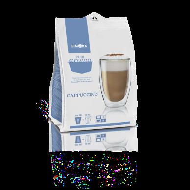 64 Capsule Gimoka Cappuccino | Caffè Compatibili Nescafè Dolce Gusto