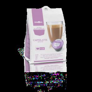 64 Capsule Gimoka Caffè Latte | Compatibili Nescafè Dolce Gusto