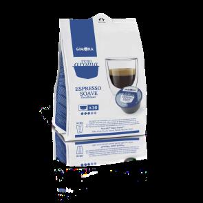64 Capsule Gimoka Soave Dek | Compatibili Nescafè Dolce Gusto